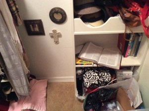My war room...er...closet corner.